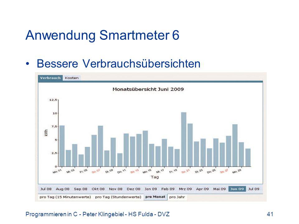 Anwendung Smartmeter 6 Bessere Verbrauchsübersichten