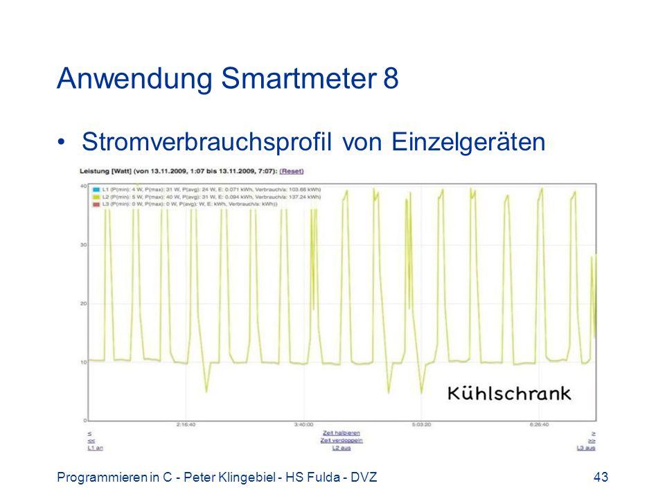 Anwendung Smartmeter 8 Stromverbrauchsprofil von Einzelgeräten