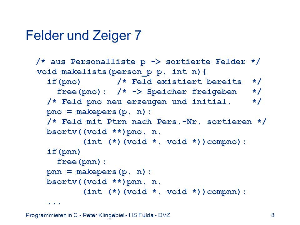 Felder und Zeiger 7