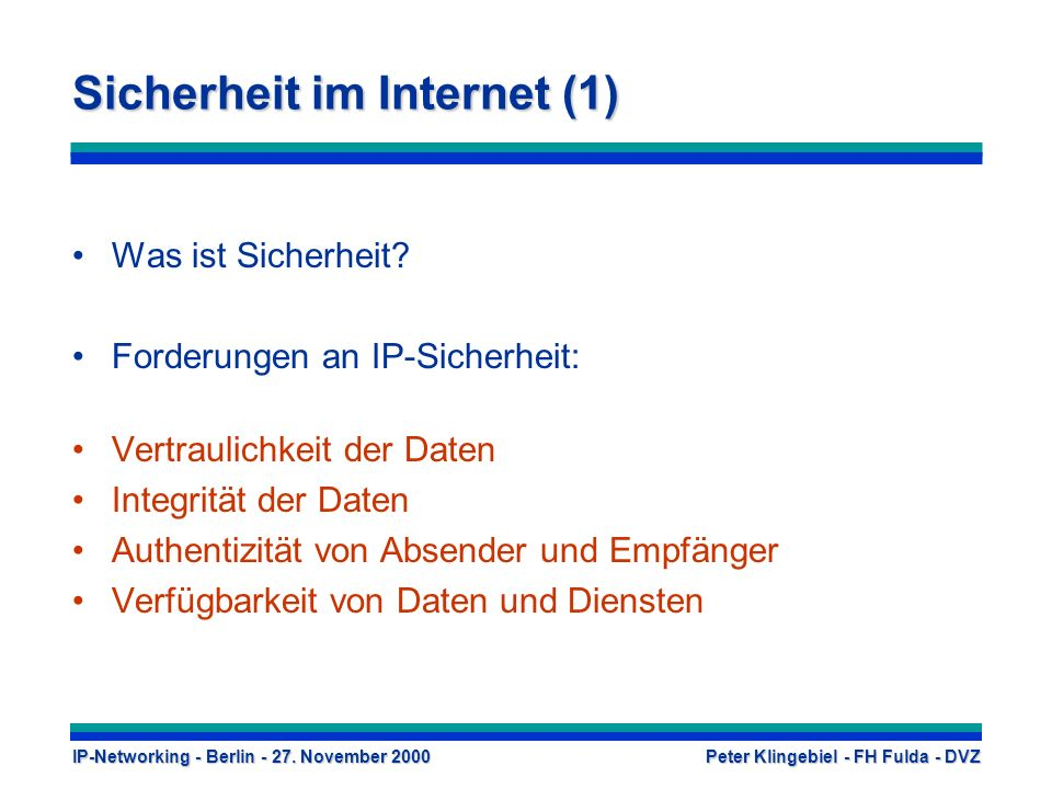 Sicherheit im Internet (1)