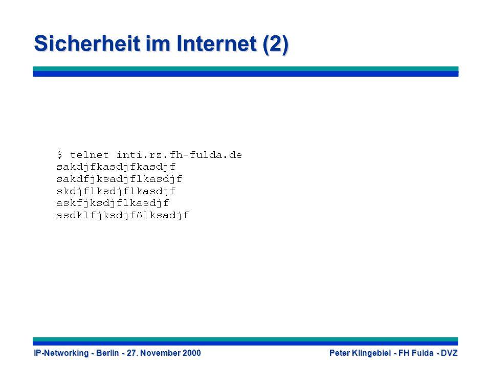Sicherheit im Internet (2)