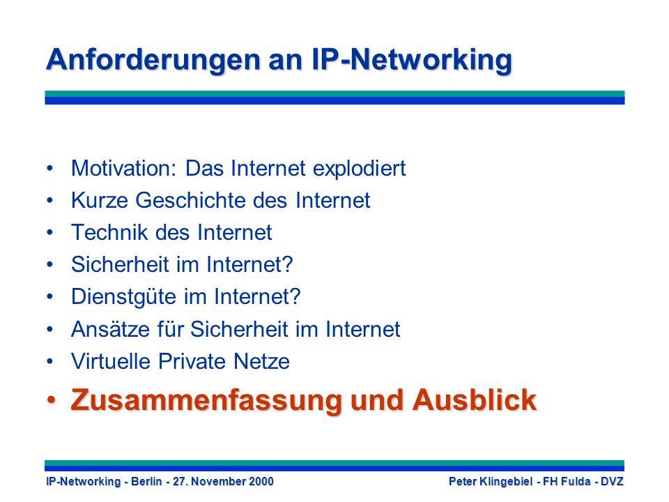 Anforderungen an IP-Networking