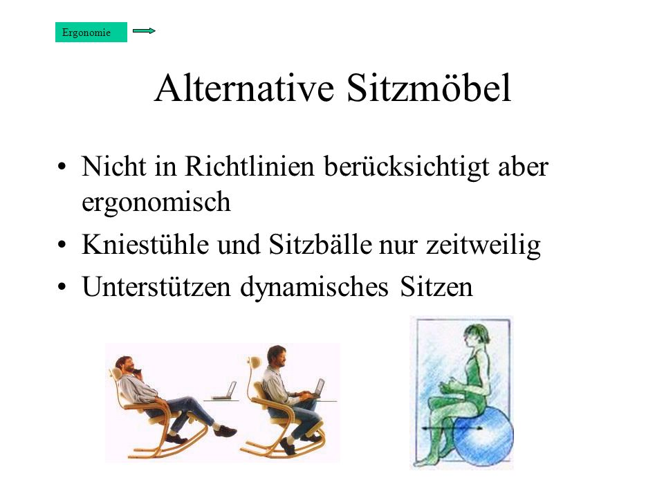 Alternative Sitzmöbel