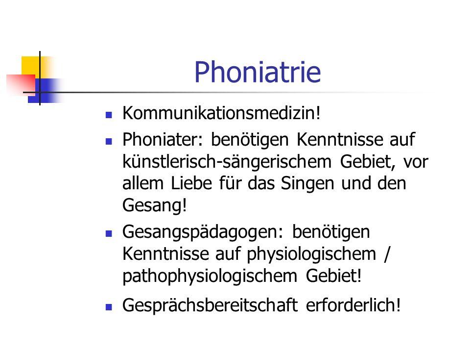Phoniatrie Kommunikationsmedizin!