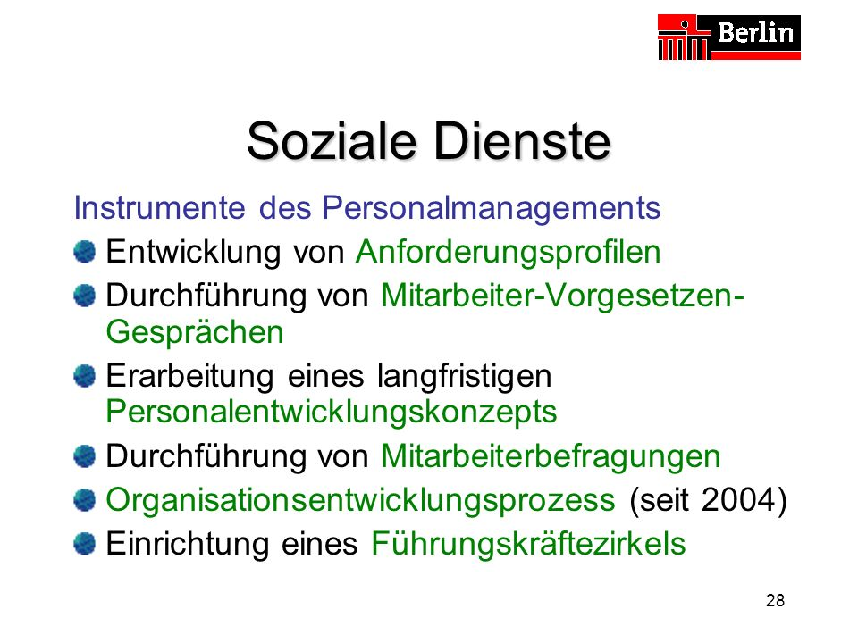 Soziale Dienste Instrumente des Personalmanagements