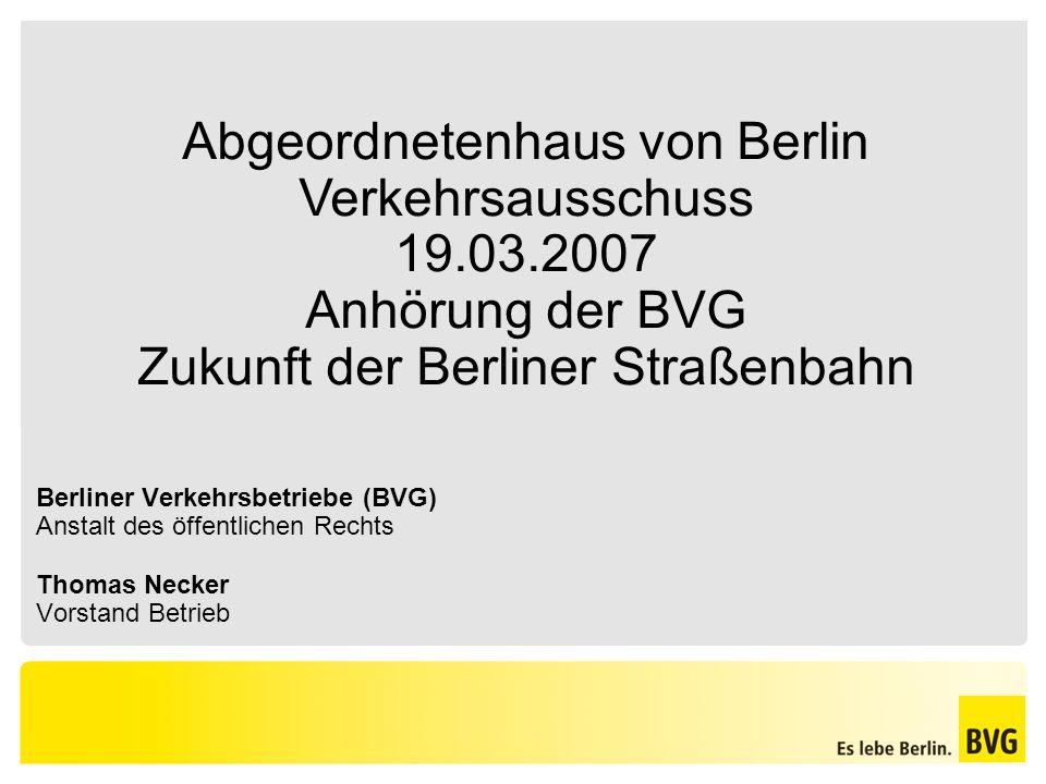 Abgeordnetenhaus von Berlin Verkehrsausschuss 19.03.2007