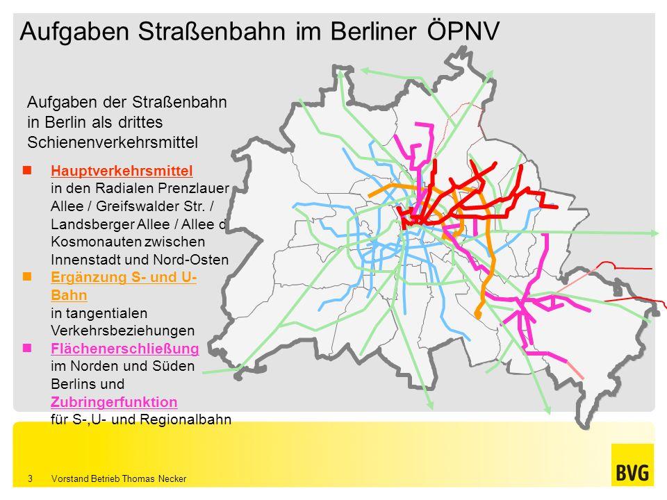 Aufgaben Straßenbahn im Berliner ÖPNV