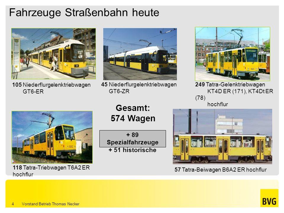 Fahrzeuge Straßenbahn heute