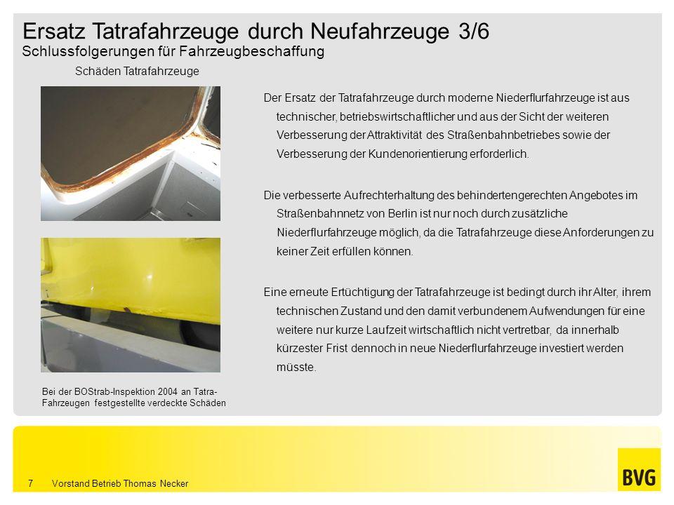 Ersatz Tatrafahrzeuge durch Neufahrzeuge 3/6