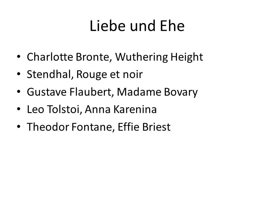 Liebe und Ehe Charlotte Bronte, Wuthering Height