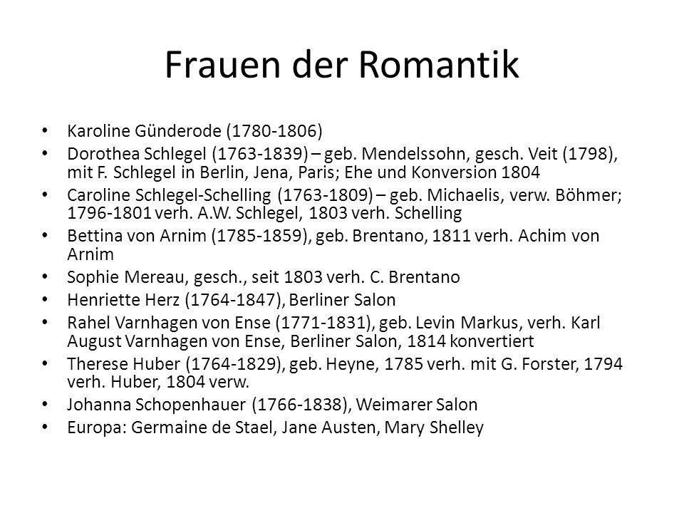 Frauen der Romantik Karoline Günderode (1780-1806)