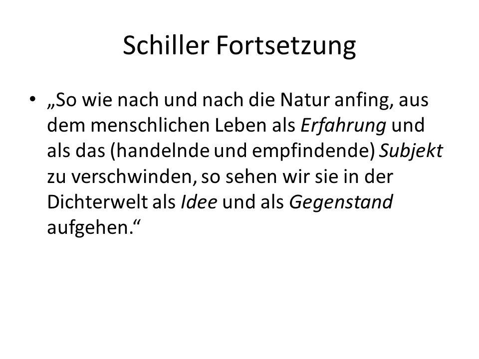 Schiller Fortsetzung