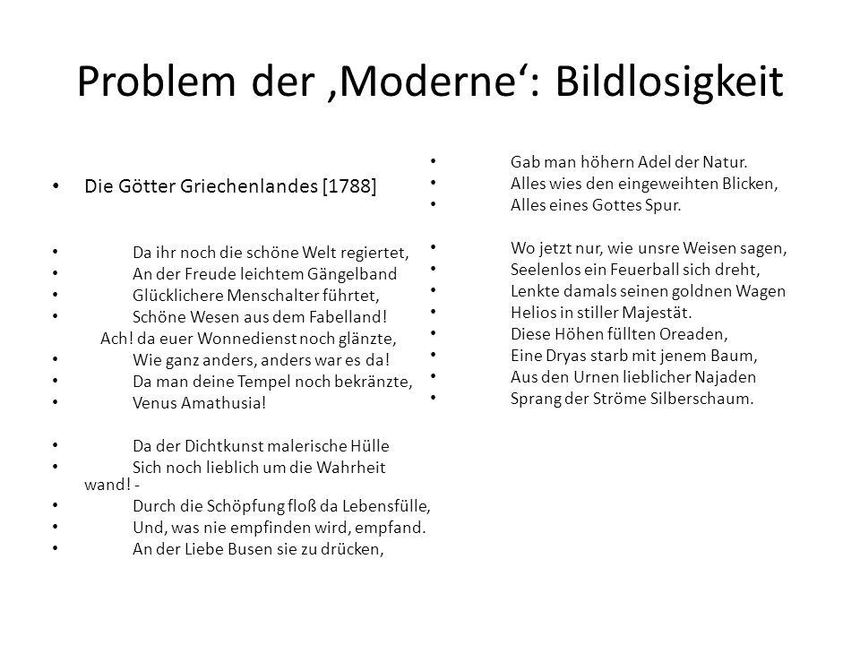 Problem der 'Moderne': Bildlosigkeit