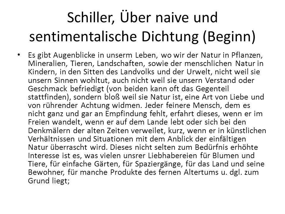 Schiller, Über naive und sentimentalische Dichtung (Beginn)