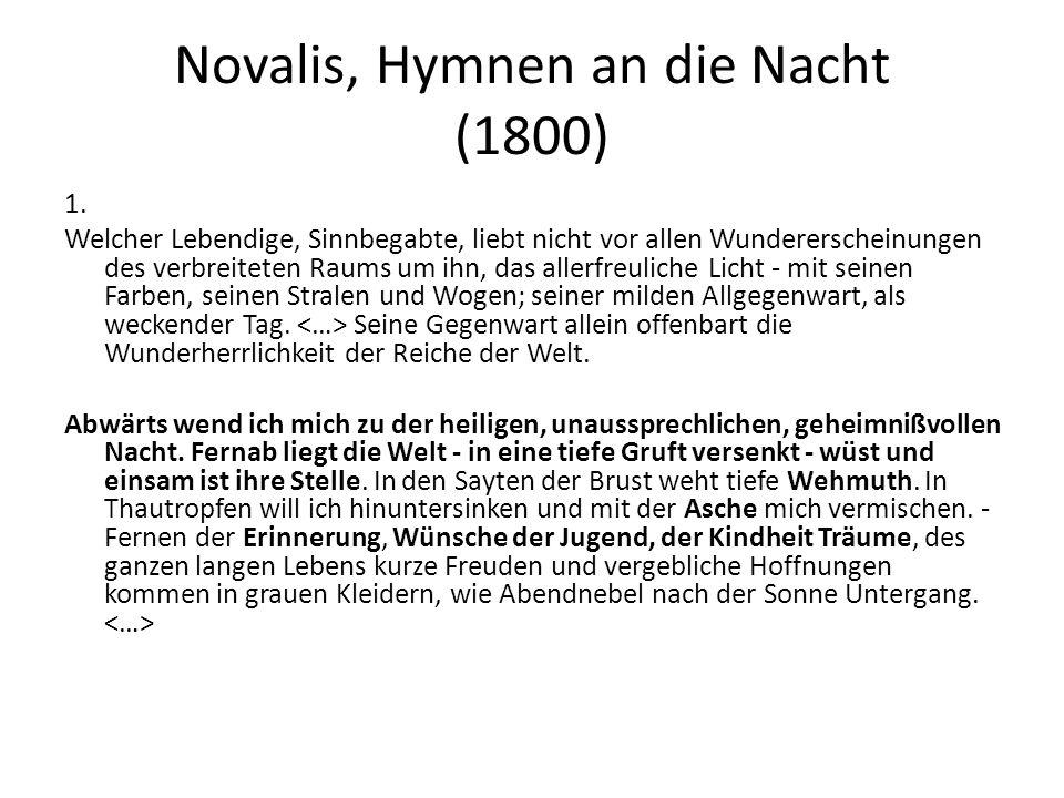 Novalis, Hymnen an die Nacht (1800)