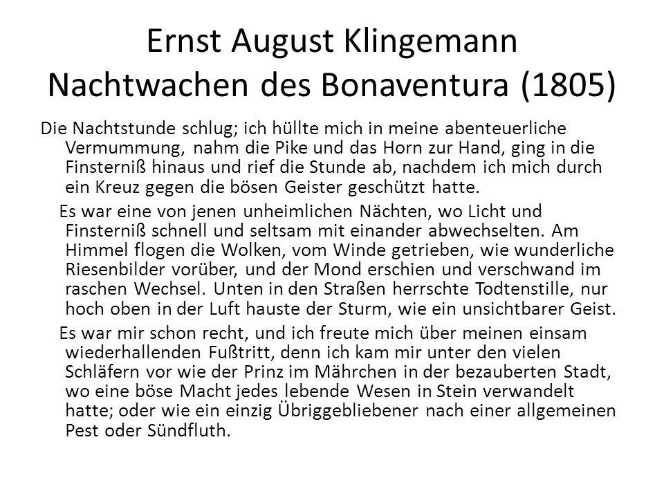 Ernst August Klingemann Nachtwachen des Bonaventura (1805)