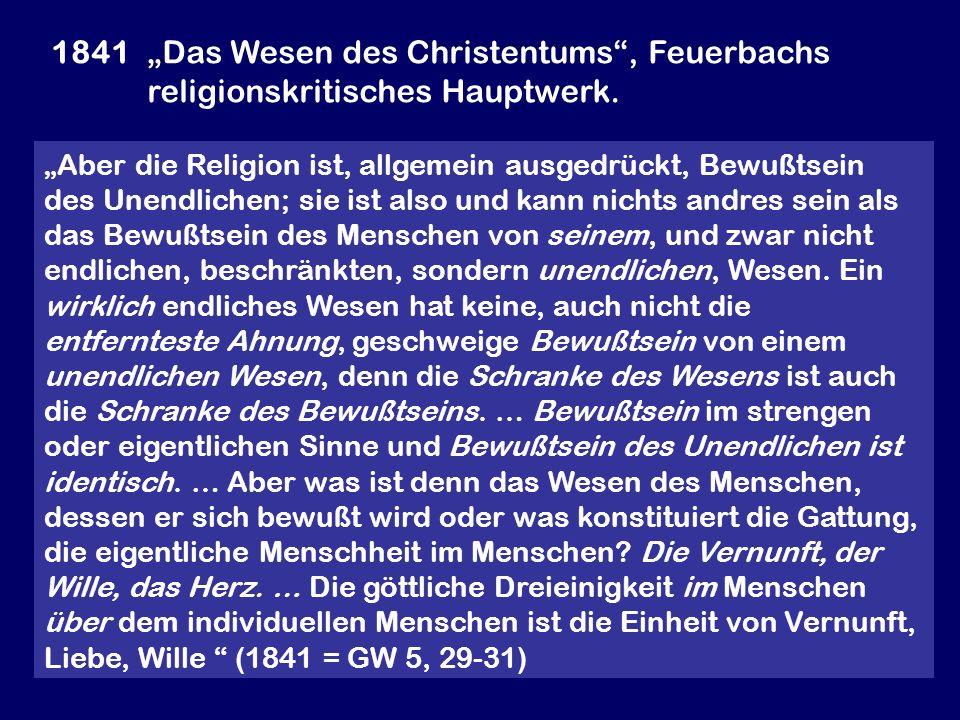 """1841. """"Das Wesen des Christentums , Feuerbachs"""