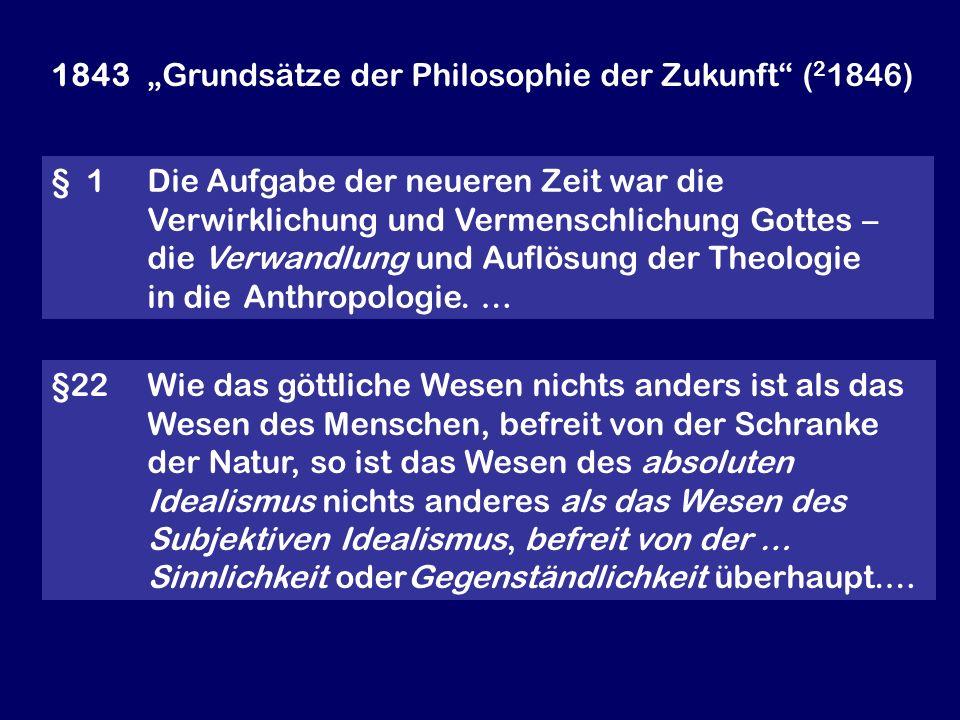 """1843 """"Grundsätze der Philosophie der Zukunft (21846)"""