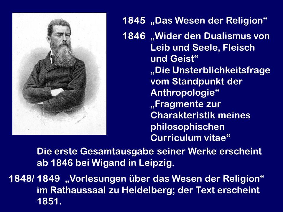 """1845 """"Das Wesen der Religion"""