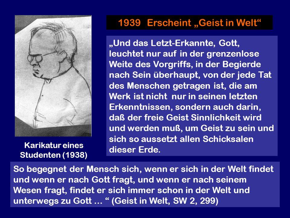 """1939 Erscheint """"Geist in Welt"""
