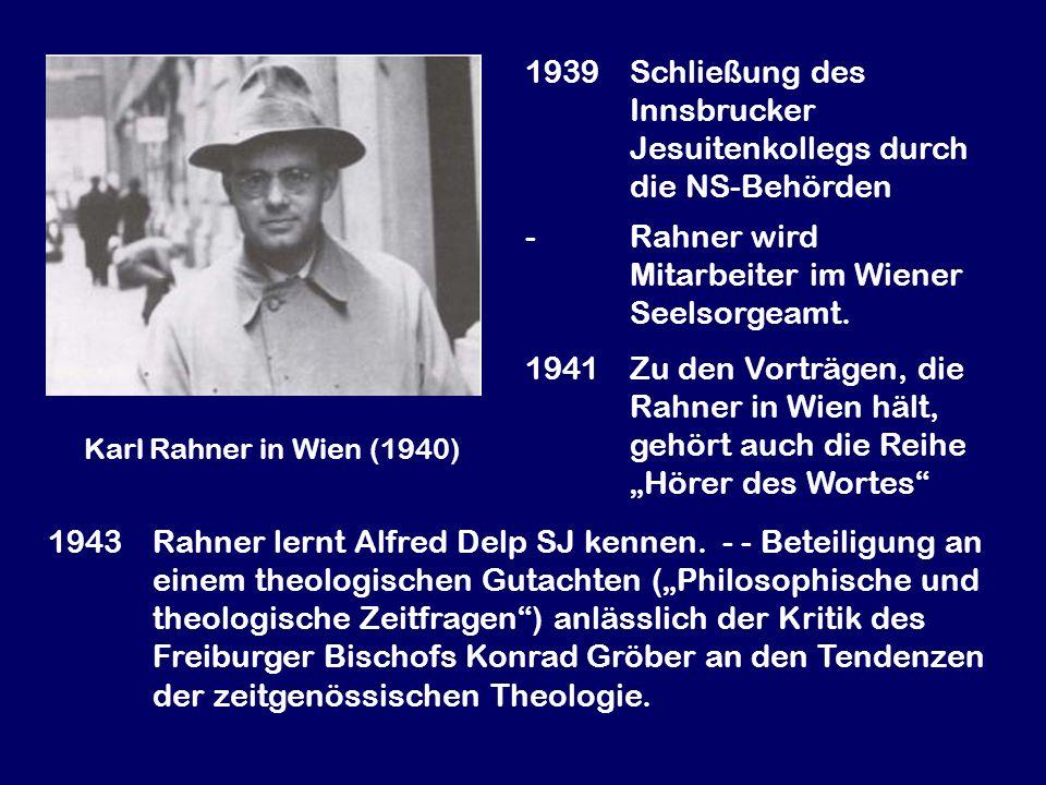 1939 Schließung des Innsbrucker Jesuitenkollegs durch die NS-Behörden