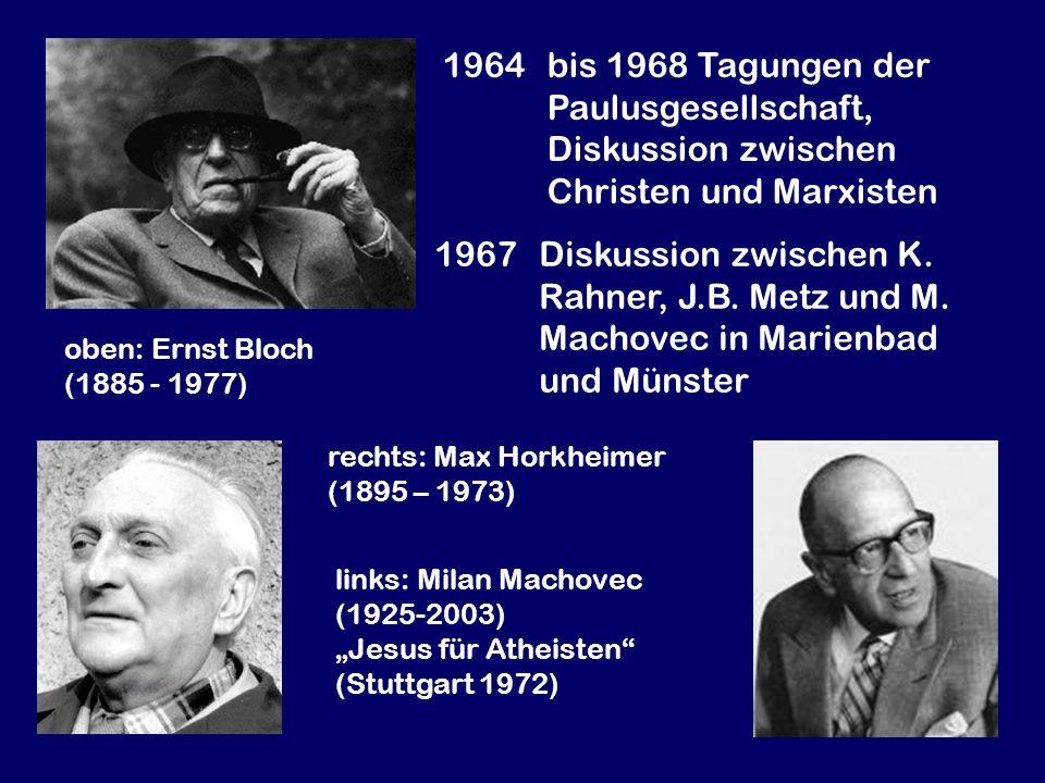 1964 bis 1968 Tagungen der Paulusgesellschaft,