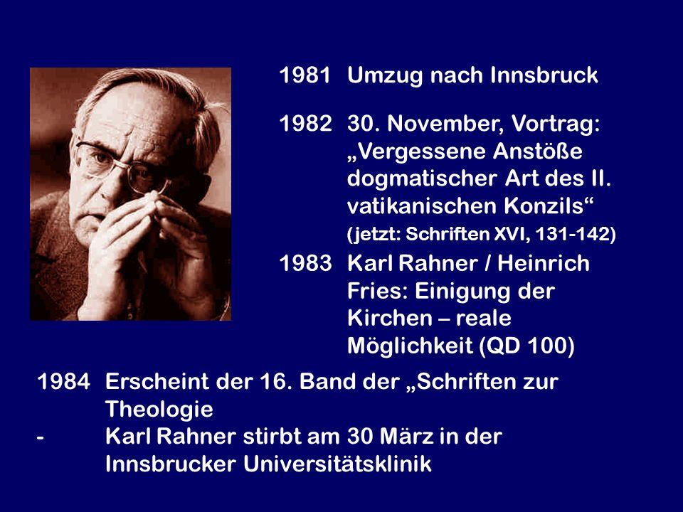 1981 Umzug nach Innsbruck
