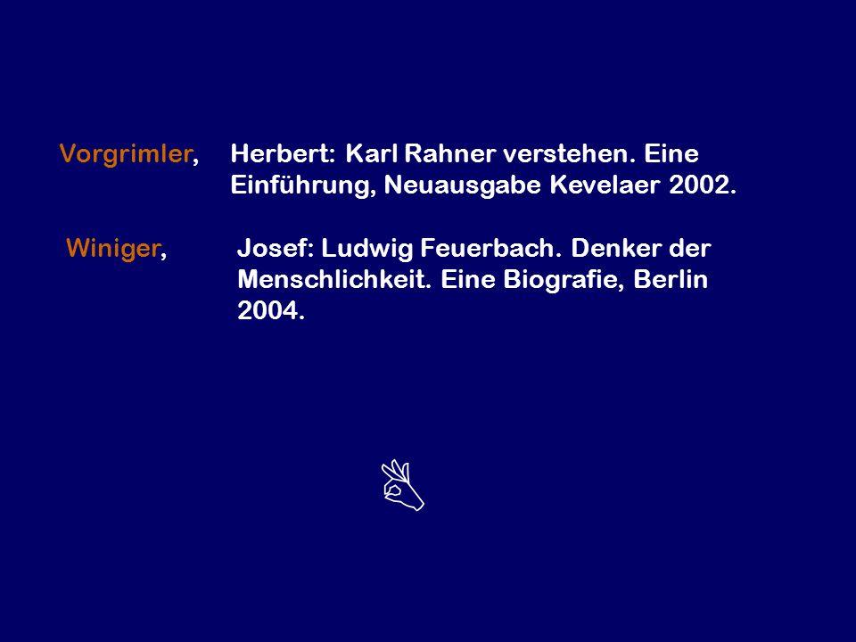 Vorgrimler,. Herbert: Karl Rahner verstehen. Eine