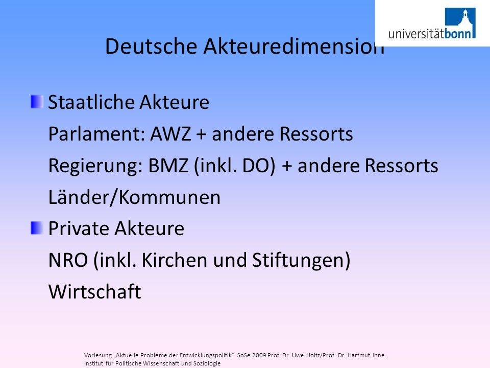 Deutsche Akteuredimension