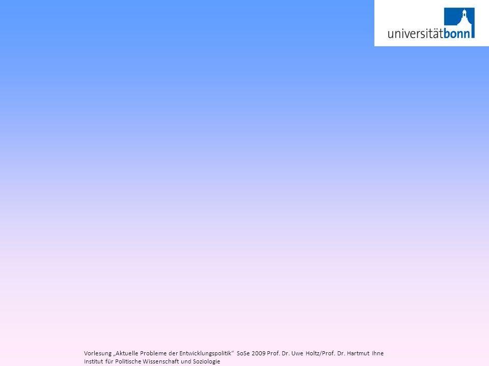 """Vorlesung """"Aktuelle Probleme der Entwicklungspolitik SoSe 2009 Prof"""