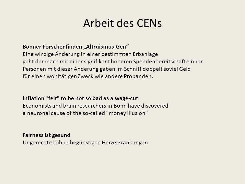 """Arbeit des CENs Bonner Forscher finden """"Altruismus-Gen"""