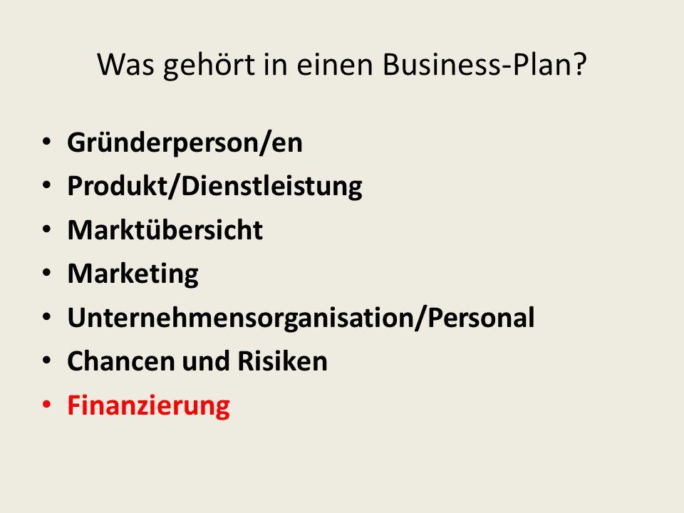Was gehört in einen Business-Plan