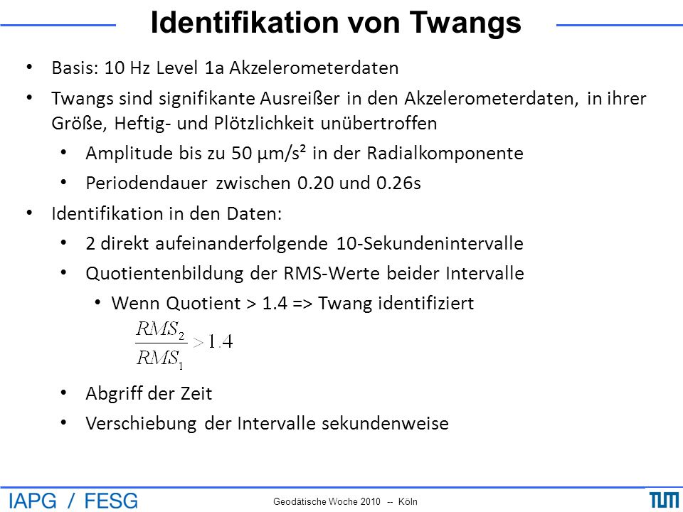 Identifikation von Twangs