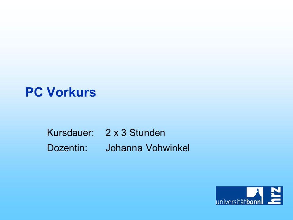 PC Vorkurs, kompletter Foliensatz
