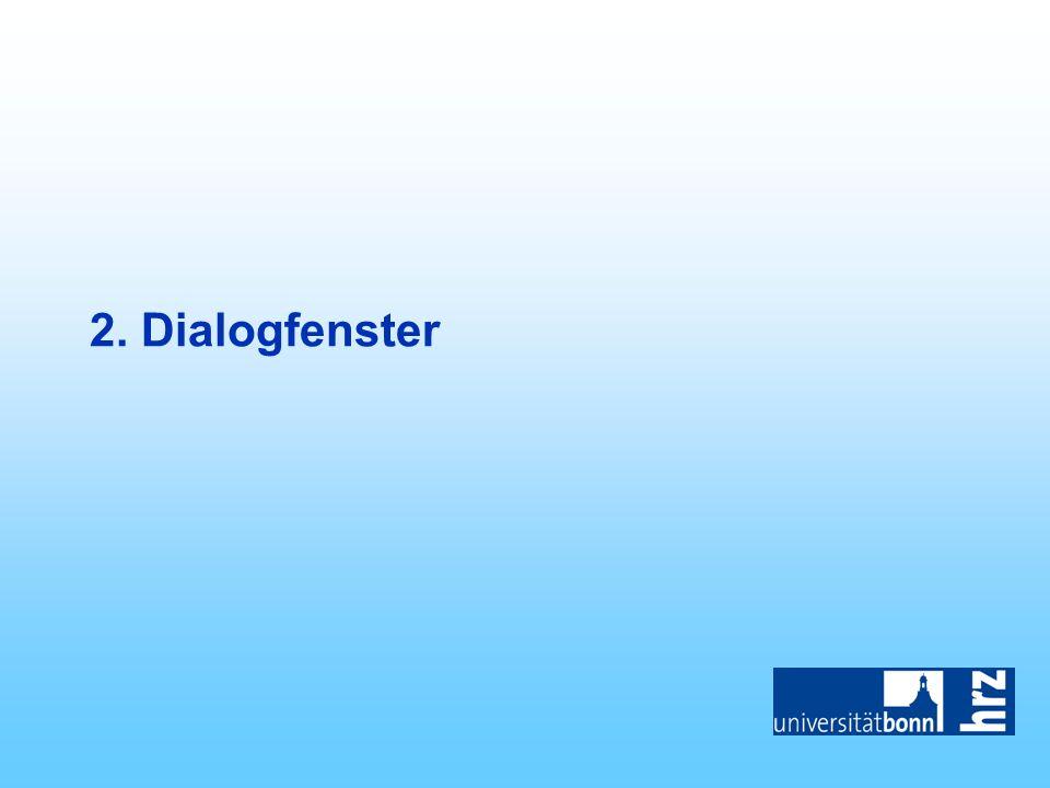 2. Dialogfenster