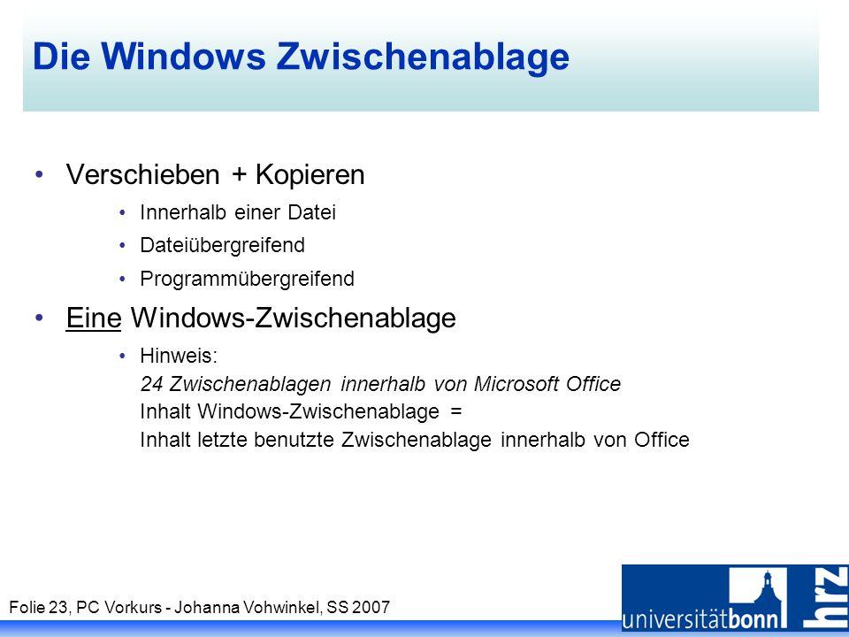 Die Windows Zwischenablage