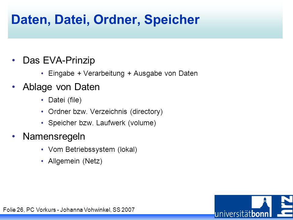 Daten, Datei, Ordner, Speicher
