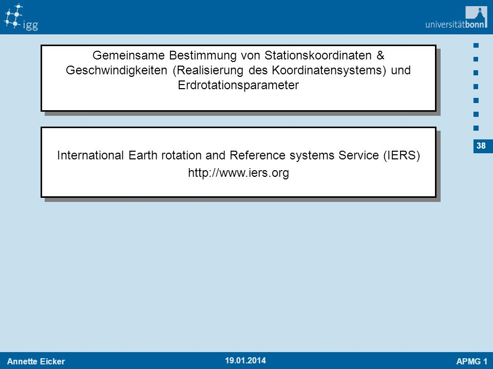 International Earth rotation and Reference systems Service (IERS)