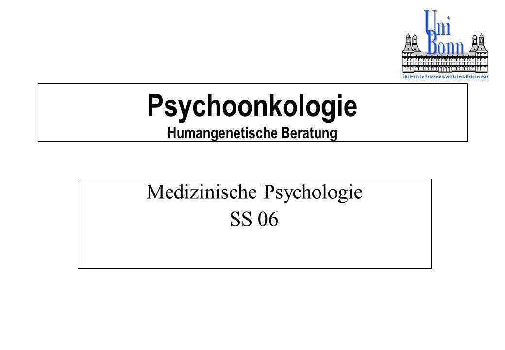 Psychoonkologie Humangenetische Beratung