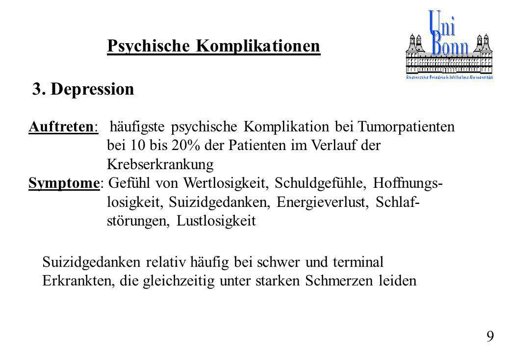 Psychische Komplikationen