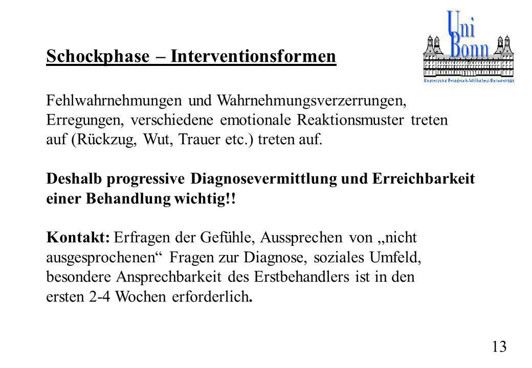Schockphase – Interventionsformen