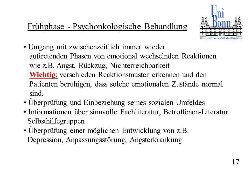Frühphase - Psychonkologische Behandlung