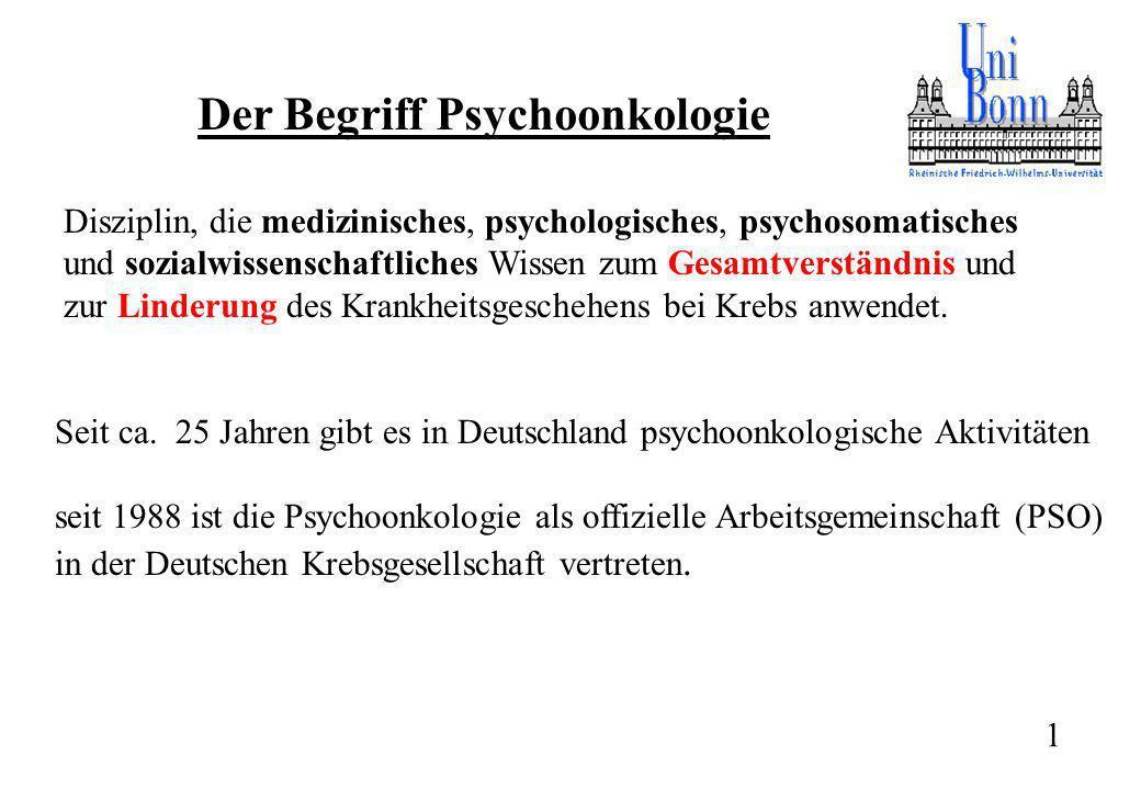 Der Begriff Psychoonkologie