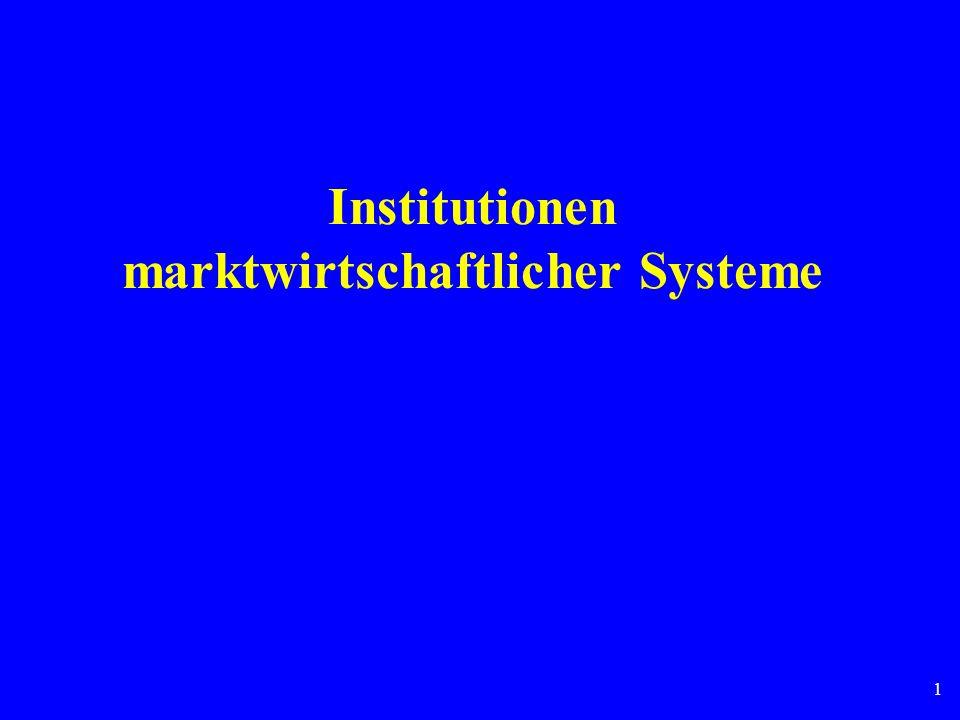 Institutionen marktwirtschaftlicher Systeme