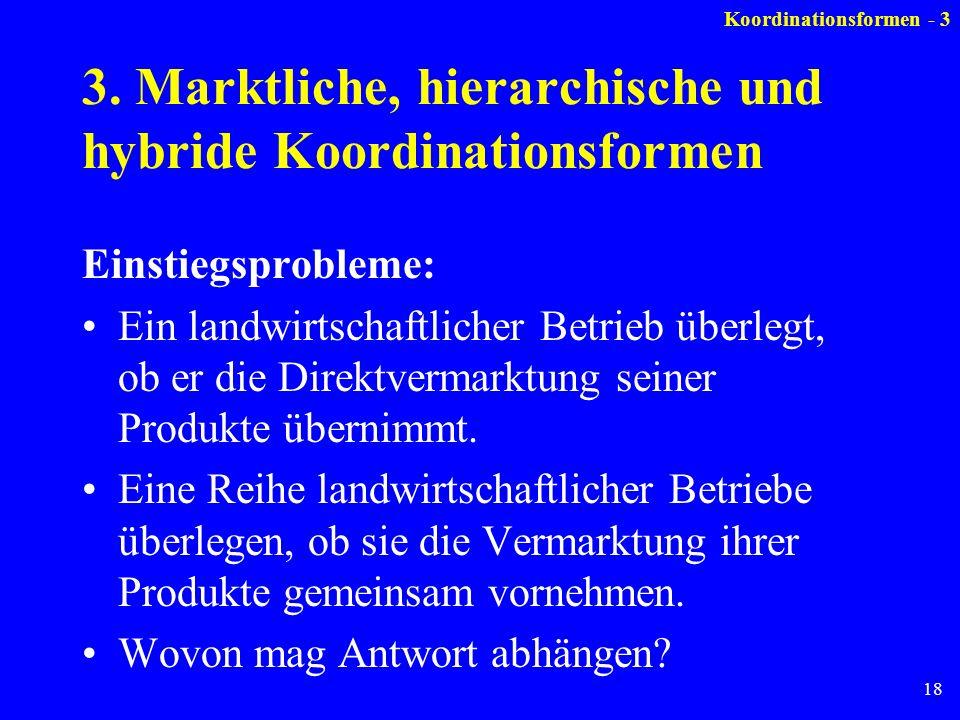 3. Marktliche, hierarchische und hybride Koordinationsformen