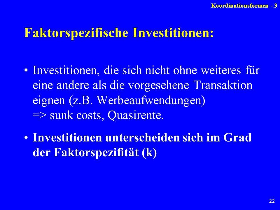 Faktorspezifische Investitionen: