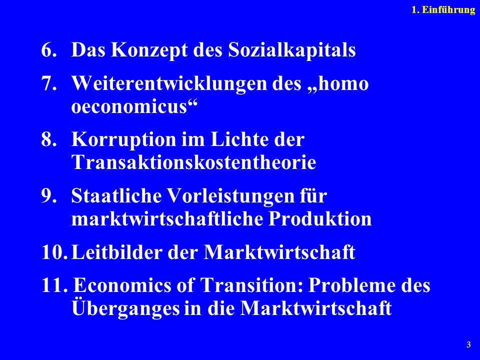 6. Das Konzept des Sozialkapitals