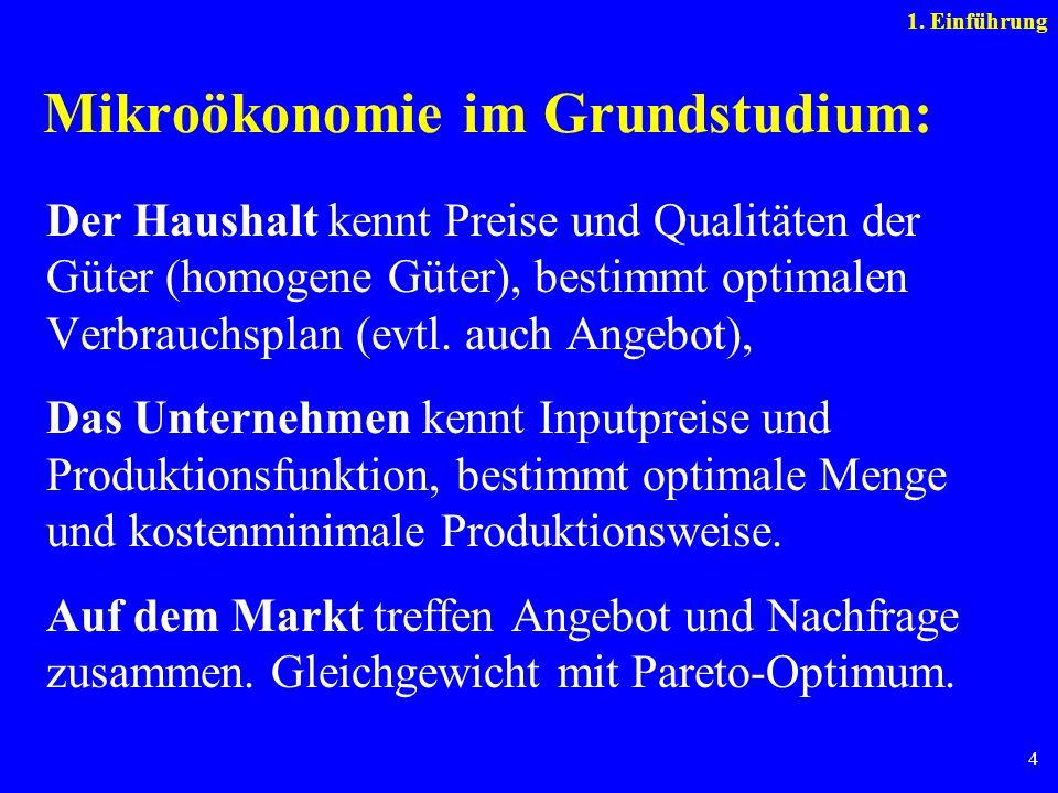 Mikroökonomie im Grundstudium: