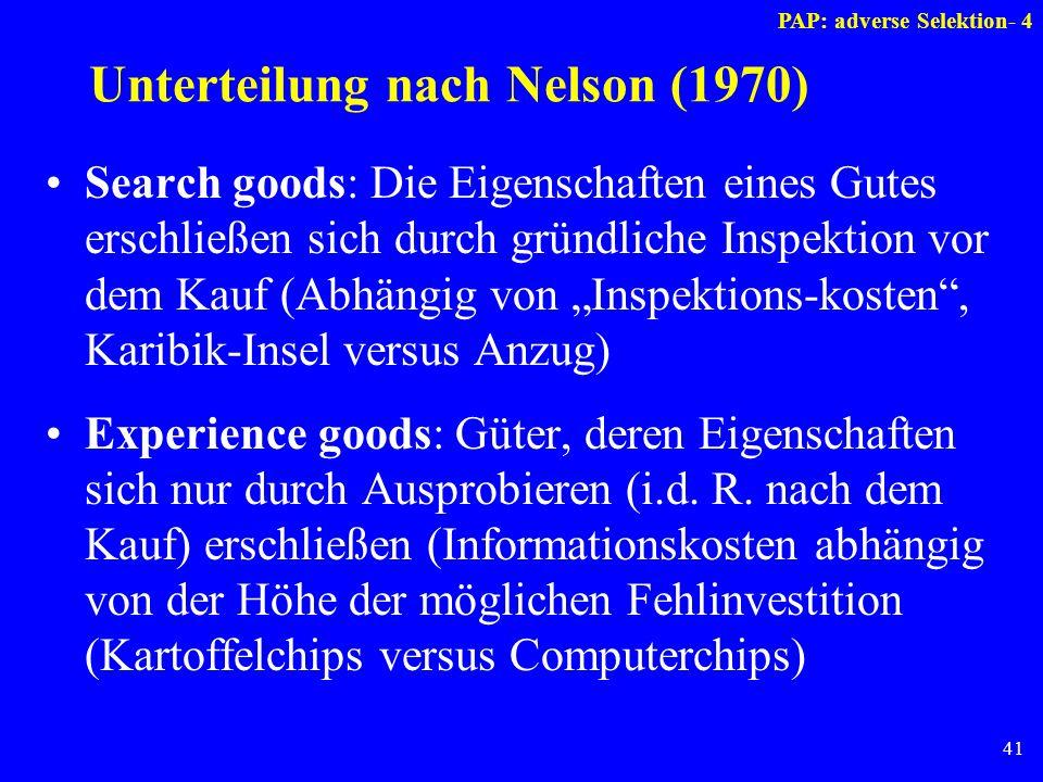 Unterteilung nach Nelson (1970)