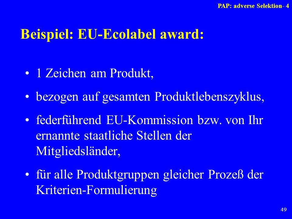 Beispiel: EU-Ecolabel award: